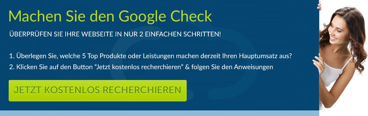 Machen Sie den Google Check!